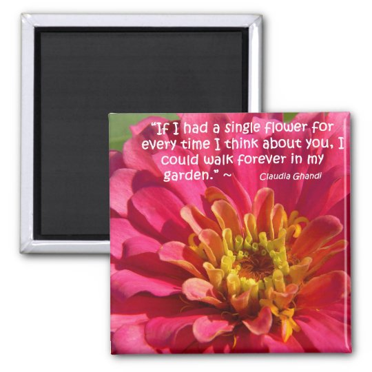 Thinking Of You... Square Magnet