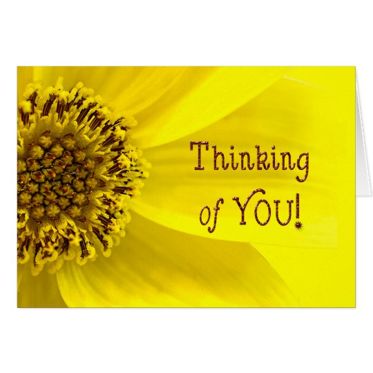 THINKING OF YOU - SUNFLOWER - BRIGHT CARD