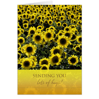 Thinking of You Sunflowers Card