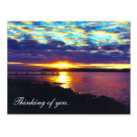 Thinking of you. sunset lake postcard_horizontal, postcard