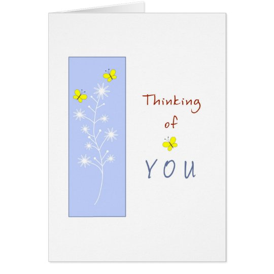Thinking of You with Yellow Butterflies Card