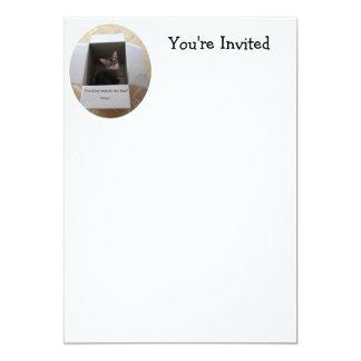 Thinking Outside the Box 13 Cm X 18 Cm Invitation Card