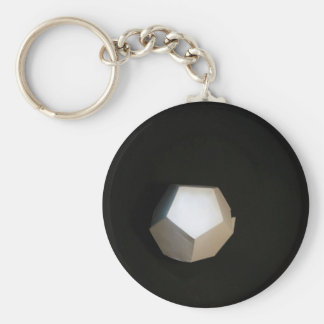 Thinking outside the Dodecahedron Basic Round Button Key Ring