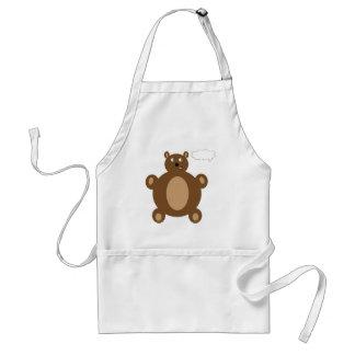 Thinking Teddy Bear Apron