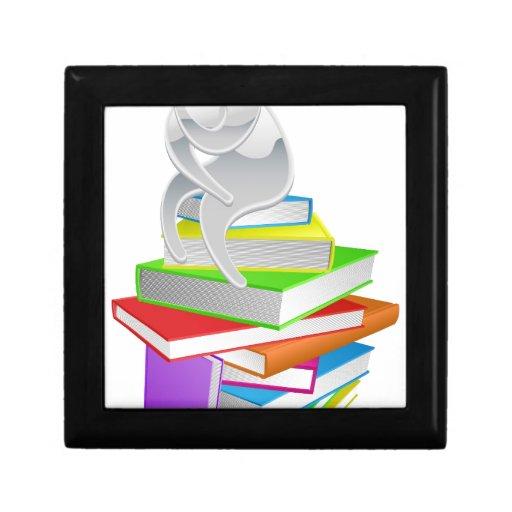 Thinking thinker on books trinket boxes
