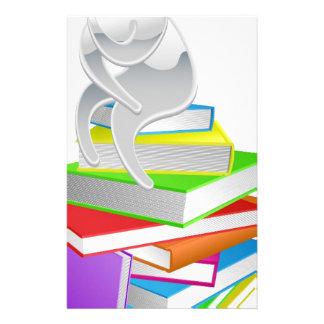 Thinking thinker on books personalised stationery