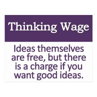 Thinking Wage  Postcard