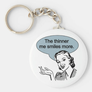 Thinner Me Smiles More Keychain