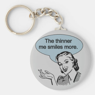 Thinner Me Smiles More Key Chain