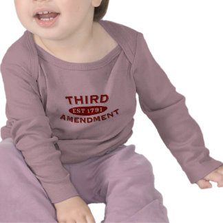 Third Amendment Est 1791 T Shirt