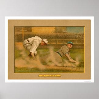Third Base Play Baseball 1911 Poster