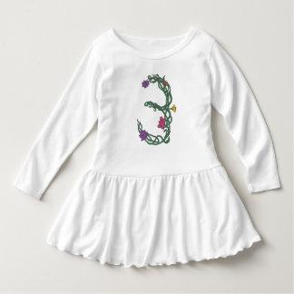 Third Birthday Girl's Toddler Ruffle Dress