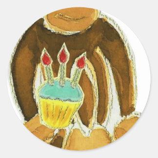 Third Birthday Monkey Round Sticker