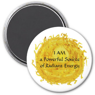Third Chakra Art: #2: Self Esteem 7.5 Cm Round Magnet