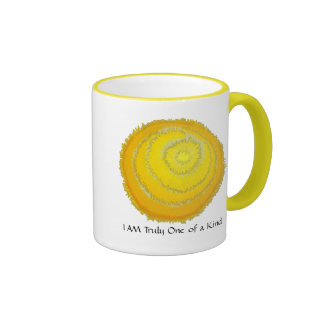 Third Chakra Art: #2 :Self Esteem Ringer Mug