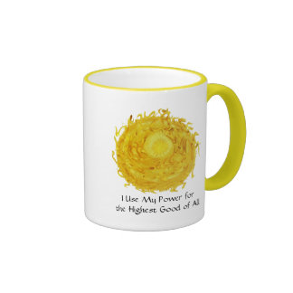 Third Chakra Art: #3 :Self Esteem Ringer Mug