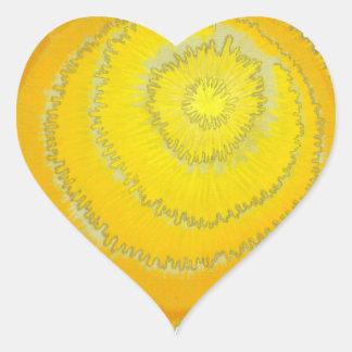 Third Chakra Healing Art #2 Heart Sticker