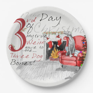 THIRD DAY OF CHRISTMAS WEIMS PAPER PLATES