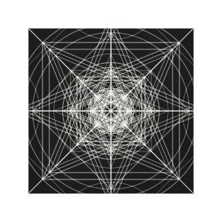 Third Dimensional Sacred Geometry Canvas Prints
