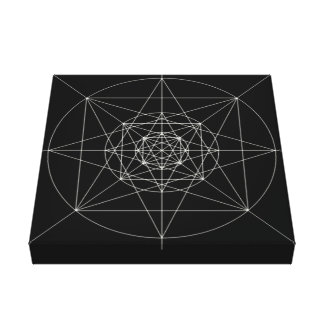 Third Dimensional Sacred Geometry Canvas Prints
