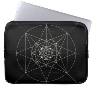 Third Dimensional Sacred Geometry Laptop Computer Sleeve