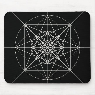 Third Dimensional Sacred Geometry Mouse Mat