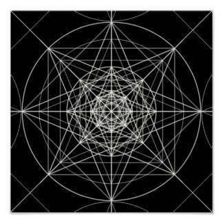 Third Dimensional Sacred Geometry Poster
