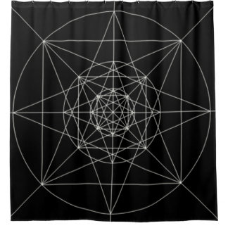 Third Dimensional Sacred Geometry Shower Curtain
