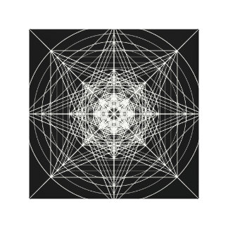 Third Dimensional Sacred Geometry Stretched Canvas Prints