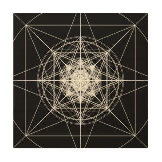 Third Dimensional Sacred Geometry Wood Prints