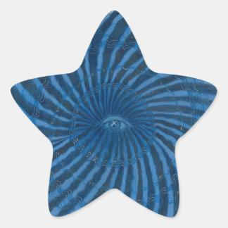 Third Eye Chakra Art #3 Star Sticker