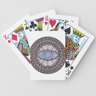Third Eye Chakra Mandala Bicycle Playing Cards