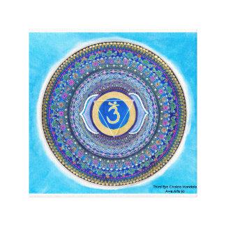 Third Eye Chakra Mandala Canvas Art