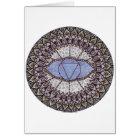 Third Eye Chakra Mandala Card