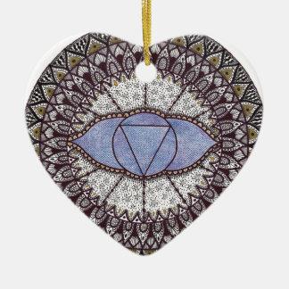 Third Eye Chakra Mandala Christmas Ornament