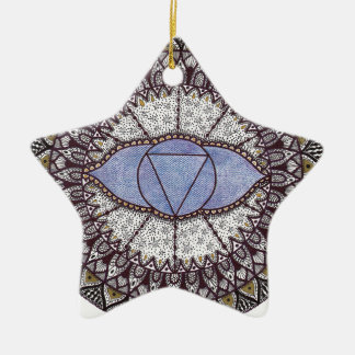 Third Eye Chakra Mandala Christmas Ornament