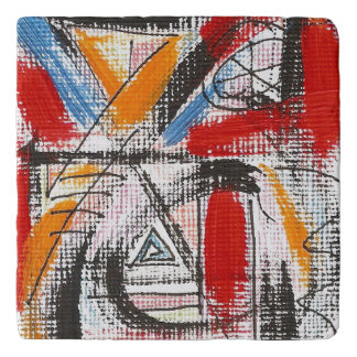 Third Eye-Hand Painted Abstract Art Trivets