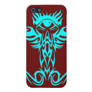 Third eye with wings cyan iPhone 5/5S covers