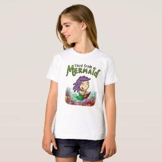 Third Grade Mermaid girls t-shirt