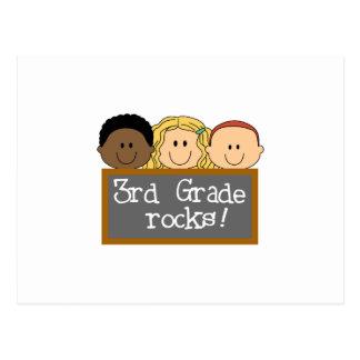 THIRD GRADE ROCKS POSTCARD