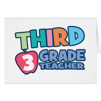 Third Grade Teacher Greeting Card