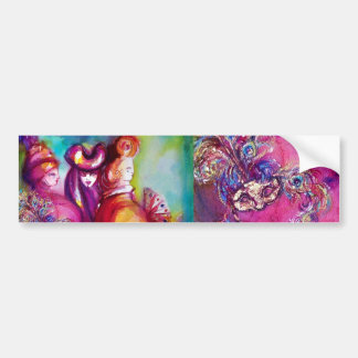 THIRD MASK / Venetian Masquerade Bumper Sticker