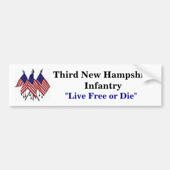 Third New Hampshire Infantry Bumper Sticker