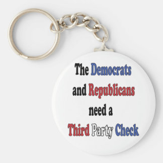 Third Party Check T-Shirt Key Chains