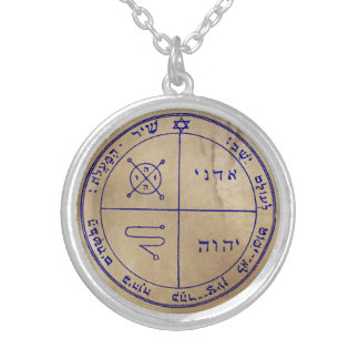 Third Pentacle of Jupiter Silver Plated Necklace
