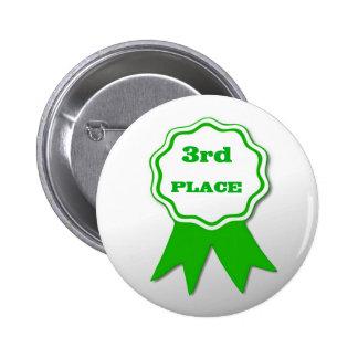 Third Place Award Button Pin