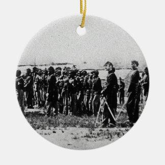 Third Regiment Infantry Civil War Colored Troops Round Ceramic Decoration