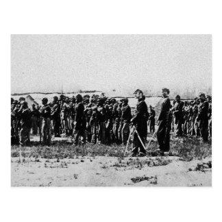 Third Regiment Infantry Civil War Coloured Troops Postcard