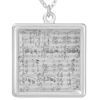 Third Sonata for piano and violin Silver Plated Necklace
