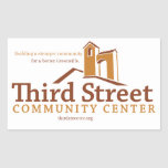 Third Street Community Centre Vision Rectangular Sticker